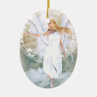 Ornamento De Cerâmica Anjo da luz