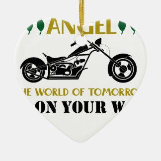 Ornamento De Cerâmica Anjo da motocicleta