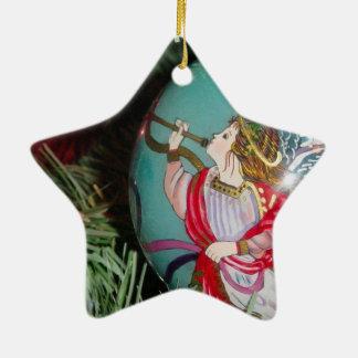 Ornamento De Cerâmica Anjo do Natal - arte do Natal - decorações do anjo