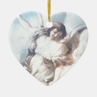 Ornamento De Cerâmica Anjo nas nuvens