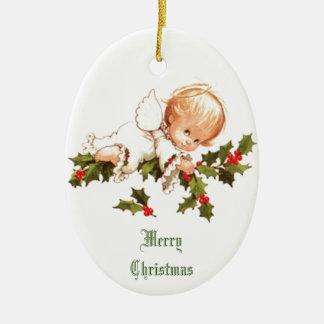 Ornamento De Cerâmica Anjo pequeno do Feliz Natal