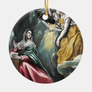 Ornamento De Cerâmica Anjo que fala a Mary
