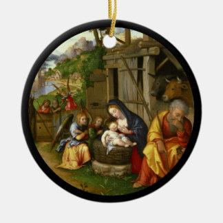 Ornamento De Cerâmica Anjos c1515 da natividade e da criança