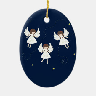 Ornamento De Cerâmica Anjos do Natal