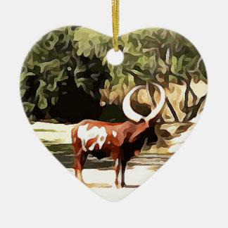 Ornamento De Cerâmica Ankole-Watusi do safari