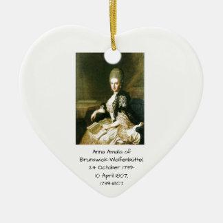 Ornamento De Cerâmica Anna Amalia de Brunsvique-Wolfenbuttel 1739-1807