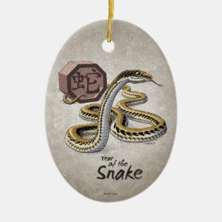 Ornamento De Cerâmica Ano chinês do zodíaco da arte do cobra