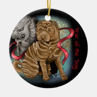 Ornamento De Cerâmica Ano chinês do zodíaco do cão
