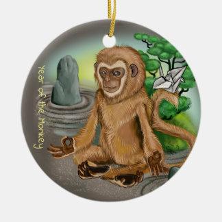 Ornamento De Cerâmica Ano chinês do zodíaco do macaco