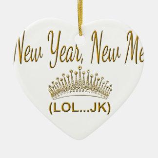 Ornamento De Cerâmica Ano novo, novo mim LOL JK
