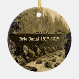 Ornamento De Cerâmica Anos bicentenários históricos do canal de Erie