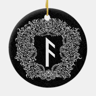 Ornamento De Cerâmica Ansuz-rune/prosperidade, vitalidade