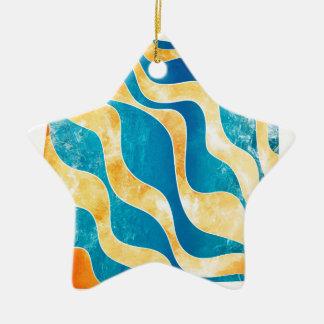 Ornamento De Cerâmica Antaressia - sol azul