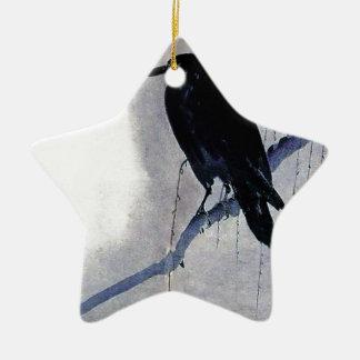 Ornamento De Cerâmica Antiguidade preta do pássaro do corvo