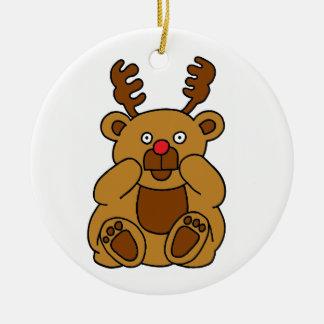 Ornamento De Cerâmica Antlers do urso