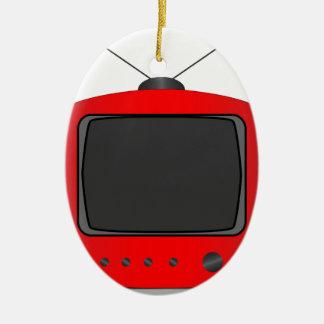Ornamento De Cerâmica Aparelho de televisão velho