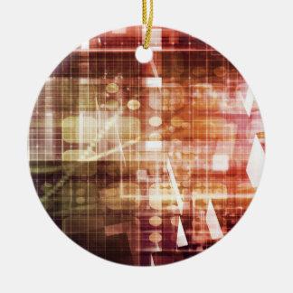 Ornamento De Cerâmica Aparência de Digitas com arte de transferência da