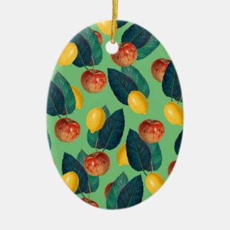 Ornamento De Cerâmica aples e verde dos limões