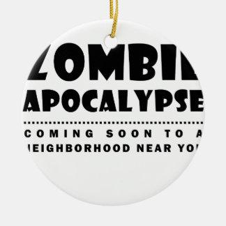 Ornamento De Cerâmica Apocalipse do zombi