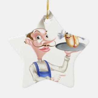 Ornamento De Cerâmica Apontar do cozinheiro chefe dos desenhos animados