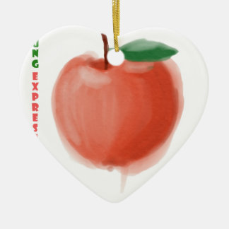 Ornamento De Cerâmica Apple