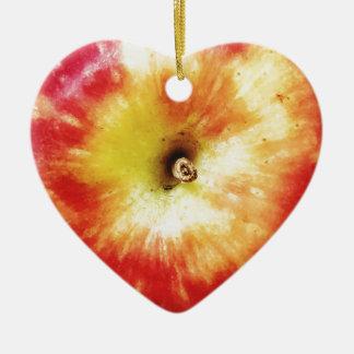 Ornamento De Cerâmica Apple Dble-tomou partido coração Ornanent