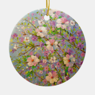 Ornamento De Cerâmica Apple de florescência