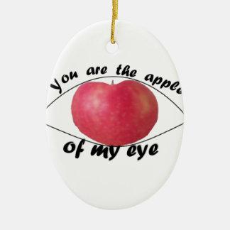 Ornamento De Cerâmica Apple de meu olho