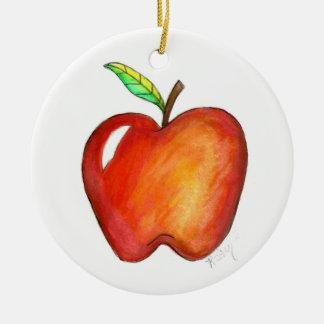 Ornamento De Cerâmica Apple para minha educação escolar do professor