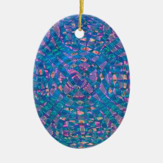 Ornamento De Cerâmica Aqua da mandala