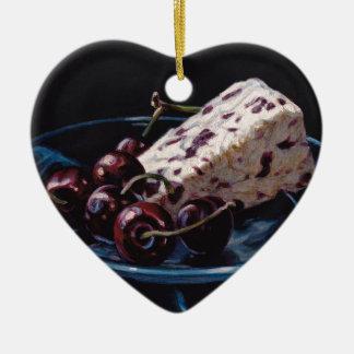 Ornamento De Cerâmica Arando Stilton com cerejas