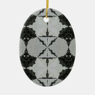 Ornamento De Cerâmica Aranha, preto e cinzas de lobo do caleidoscópio