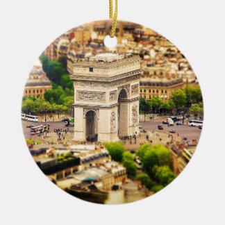 Ornamento De Cerâmica Arco do Triunfo de l'Étoile, Paris, France
