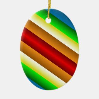 Ornamento De Cerâmica Arco-íris afiado dobro de Liquidartz