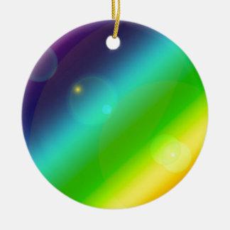 Ornamento De Cerâmica Arco-íris borbulhante