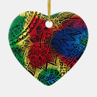 Ornamento De Cerâmica Arco-íris de Pawprint
