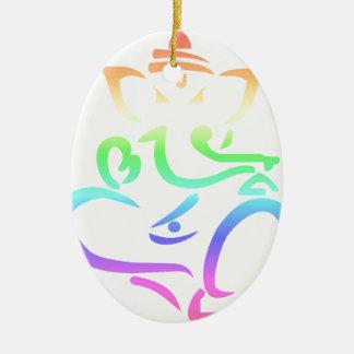 Ornamento De Cerâmica Arco-íris Ganesha