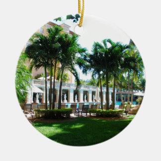 Ornamento De Cerâmica Área da piscina de Miami Biltmore