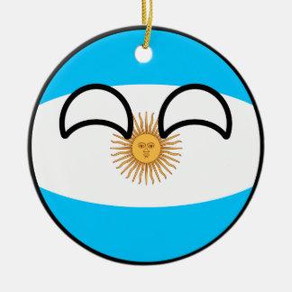 Ornamento De Cerâmica Argentina Geeky de tensão engraçada Countryball