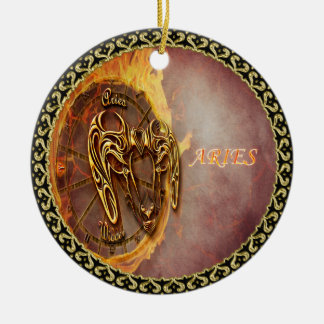 Ornamento De Cerâmica Aries horóscopo do 21 de março até o 20 de abril