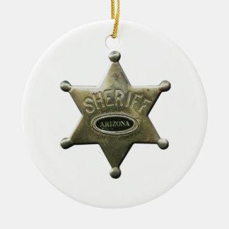 Ornamento De Cerâmica Arizona do xerife