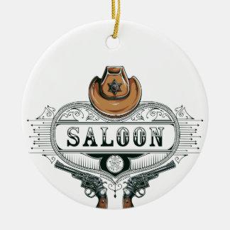 Ornamento De Cerâmica armas do vaqueiro do vintage do bar