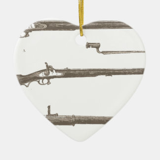 Ornamento De Cerâmica Armas velhas da antiguidade do vintage dos rifles
