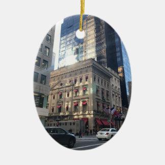 Ornamento De Cerâmica Armazém da Nova Iorque NYC da Quinta Avenida