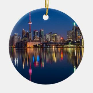Ornamento De Cerâmica Arquitectura da cidade da noite de Toronto Canadá