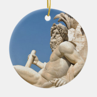 Ornamento De Cerâmica Arquitetura italiana na praça Navona, Roma, Italia