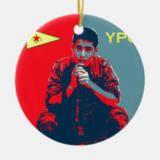 Ornamento De Cerâmica Arte 2 do soldado 4 de YPG