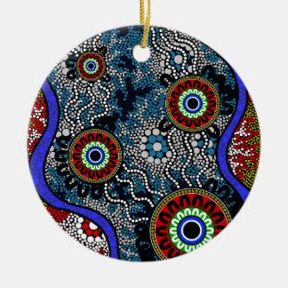 Ornamento De Cerâmica Arte aborígene - acampando