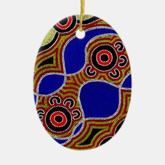 Ornamento De Cerâmica Arte aborígene autêntica