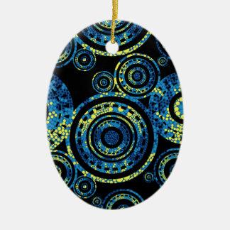 Ornamento De Cerâmica Arte aborígene autêntica - design de Paisley